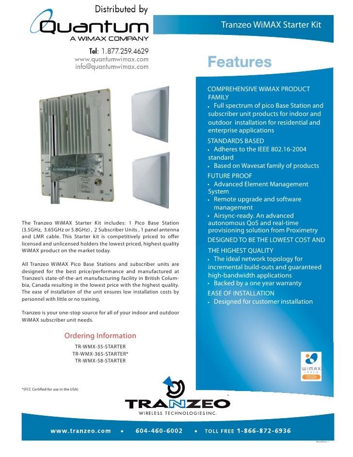 Tranzeo Wimax Starter Kit (quantumwimax.com)