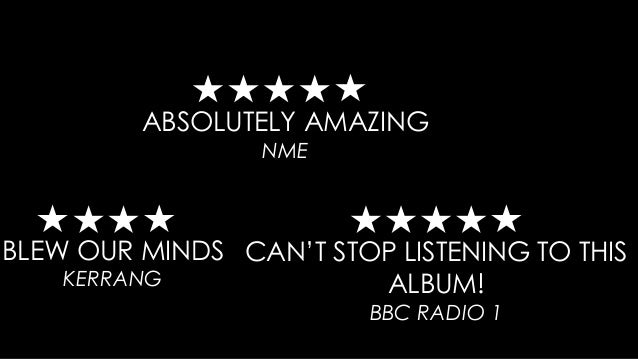 ABSOLUTELY AMAZING NME BLEW OUR MINDS KERRANG CAN'T STOP LISTENING TO THIS ALBUM! BBC RADIO 1