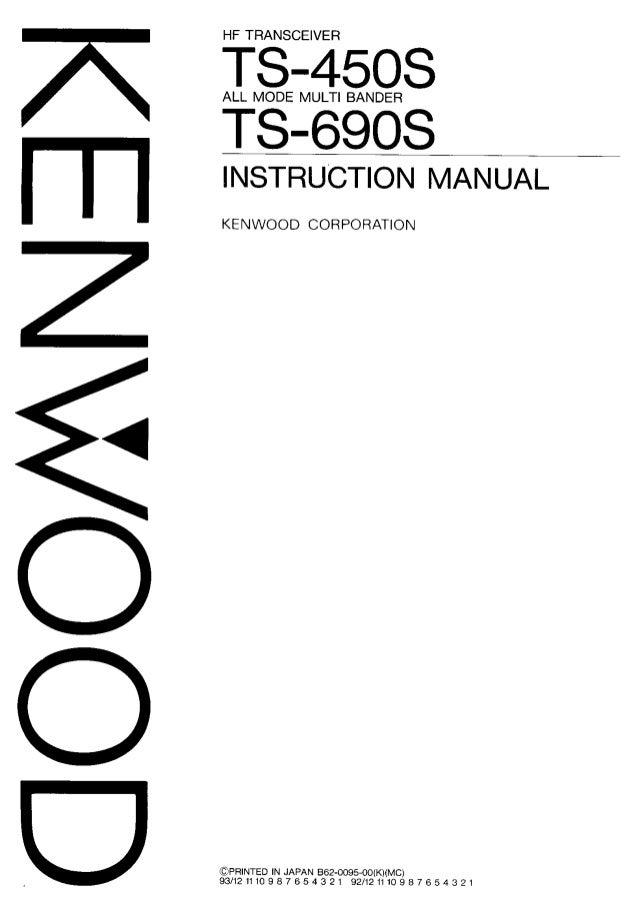 Ts 450 s instruction manual