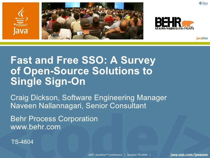 Fast and Free SSO: A Survey of Open-Source Solutions to Single Sign-On