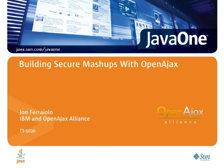 Building Secure Mashups With OpenAjax