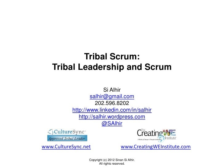 Tribal Scrum: Tribal Leadership and Scrum