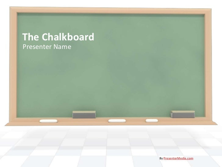 Blackboard.ppt template