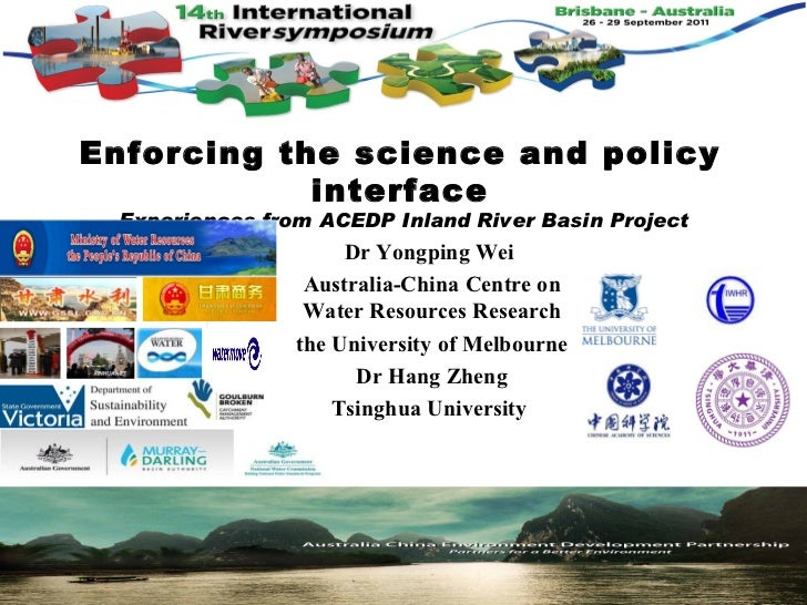 Enforcing the science and policy            interface -Experiences from ACEDP Inland River Basin Project                  ...