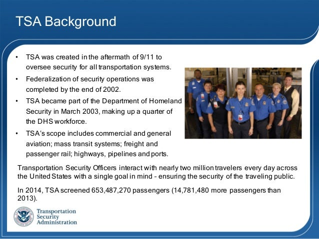 the transportation security administration essay Trb publications by subject click on one of the links below to identify trb publications and select national academies reports recently released within that.