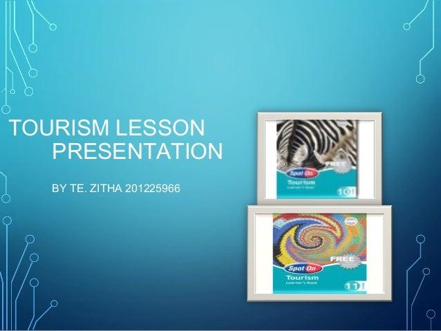 TOURISM LESSON