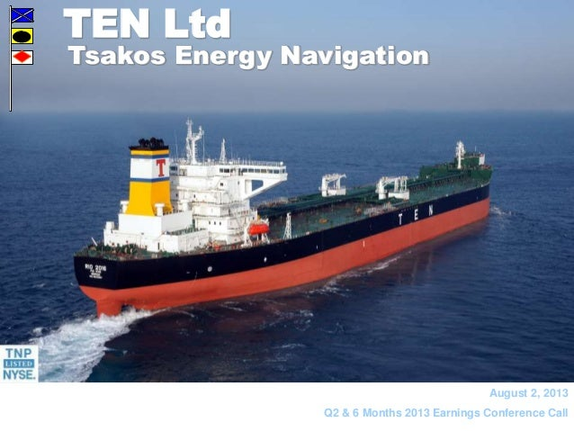 Tsakos Energy Navigation Q2 2013 results presentation