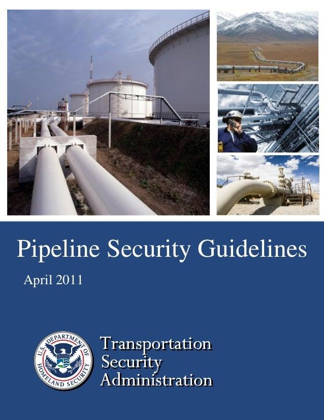 TSA 2011 Pipeline Security Guidelines