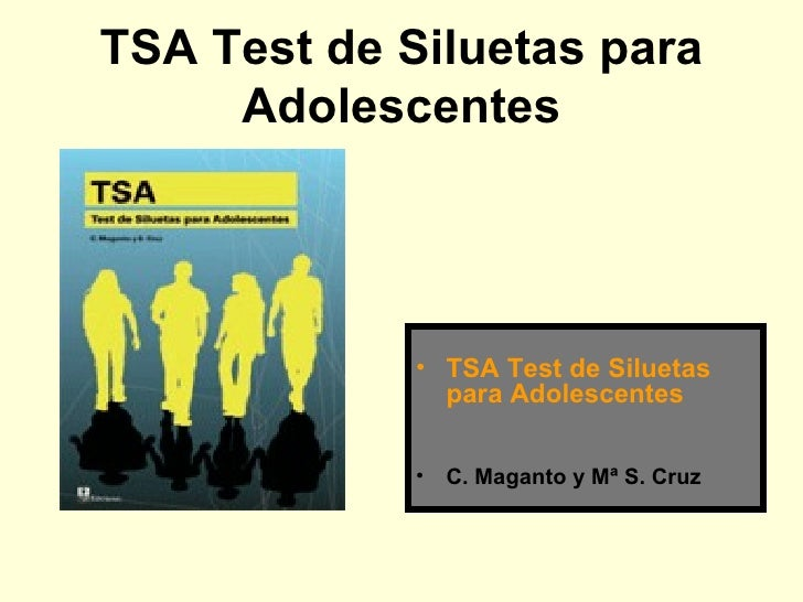 Tsa Test De Siluetas Para Adolescentes