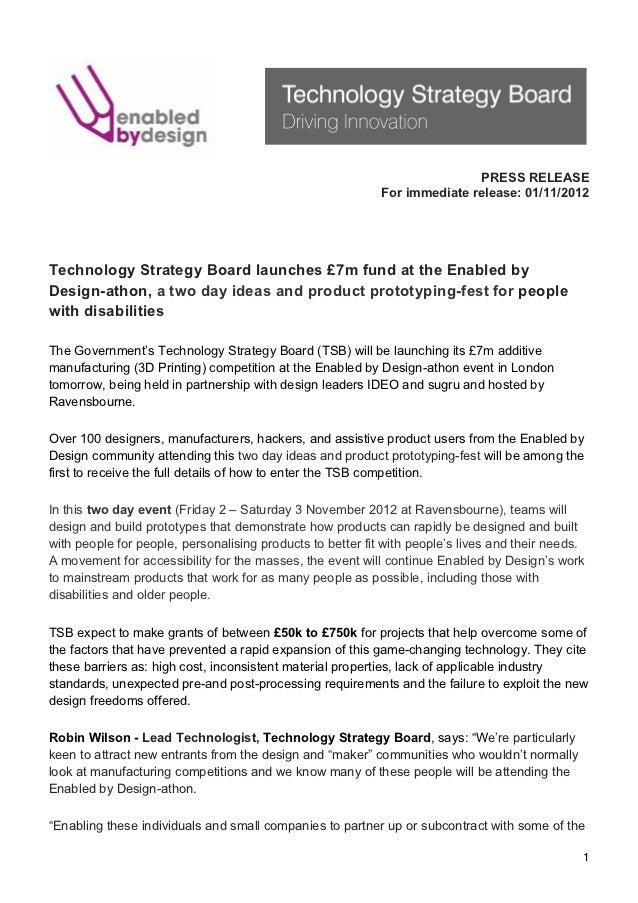 TSB Enabled by Design press release 01nov12