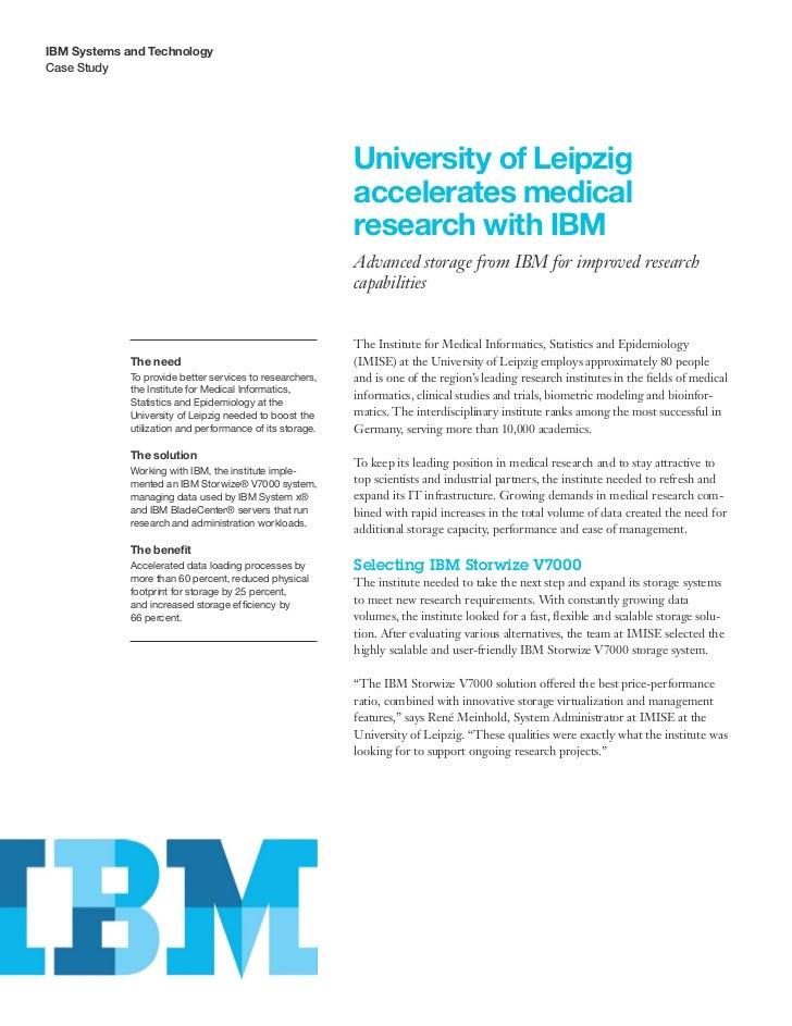 IBM Systems and TechnologyCase Study                                                           University of Leipzig      ...