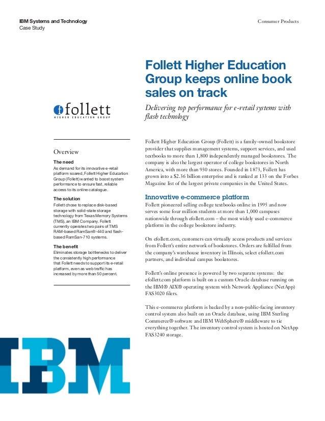 Follett Higher Education Group keeps online book sales on track