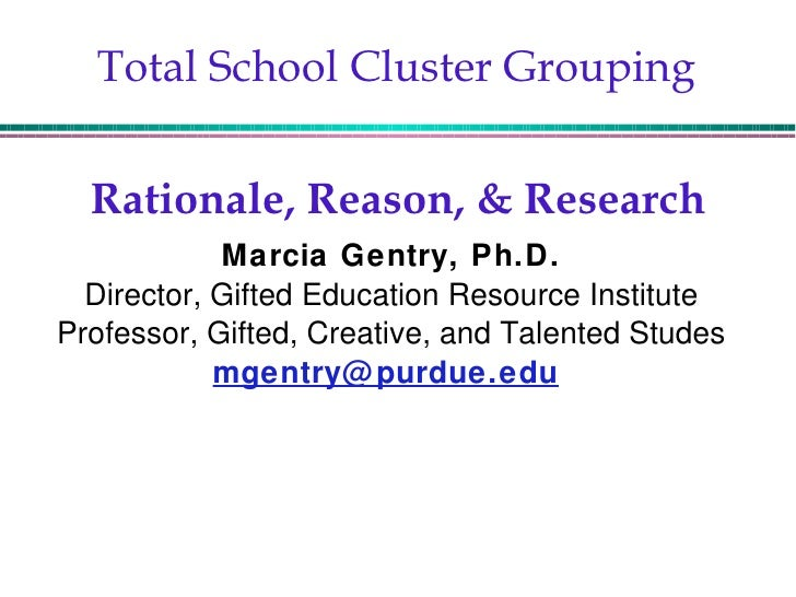 Total School Cluster Grouping