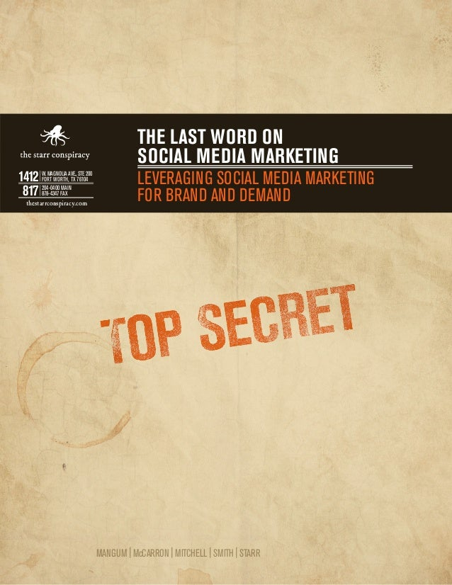 The last word on                                            social media marketing1412 W. MAGNOLIA AVE.,76104200     FORT ...