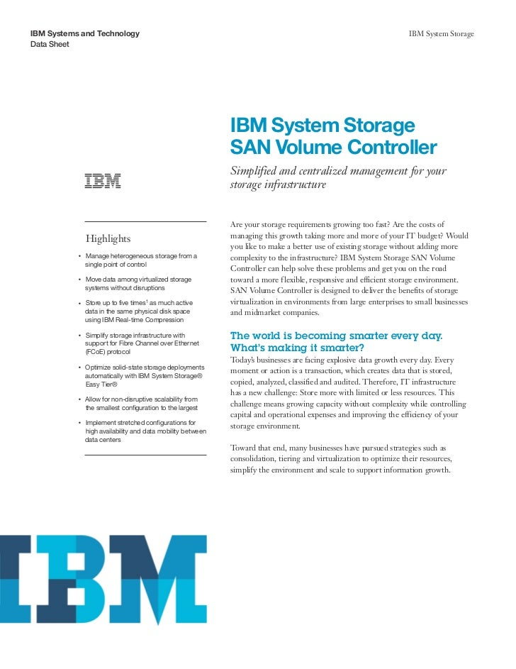 IBM System Storage SAN Volume Controller
