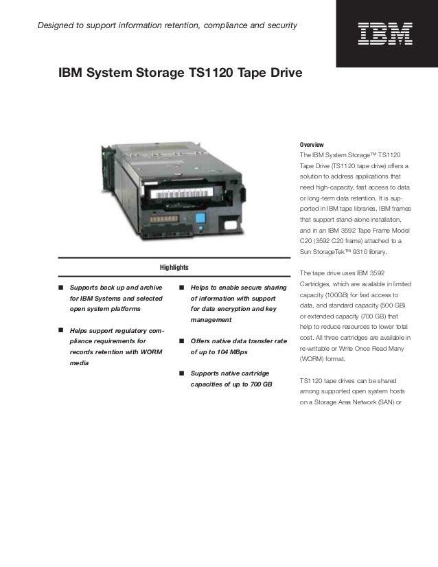 IBM System Storage TS1120 Tape Drive