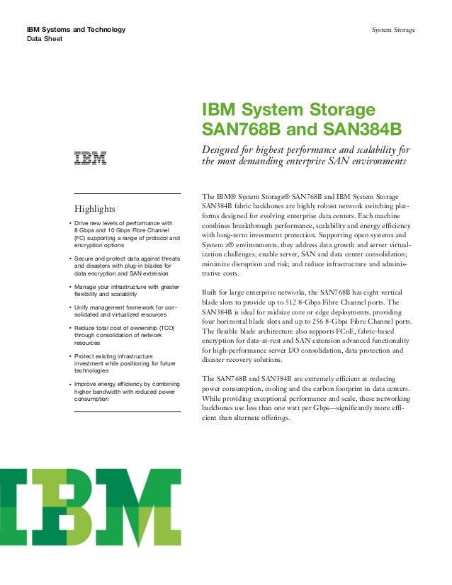 IBM System Storage SAN768B and SAN384B