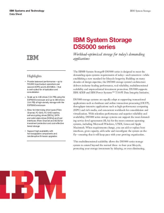 IBM System Storage DS5000 series