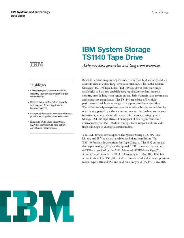 IBM System Storage Tape Drive