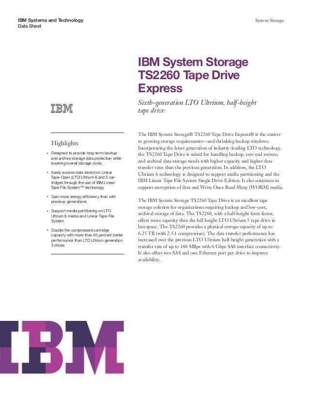 IBM System Storage TS2260 Tape Drive Express
