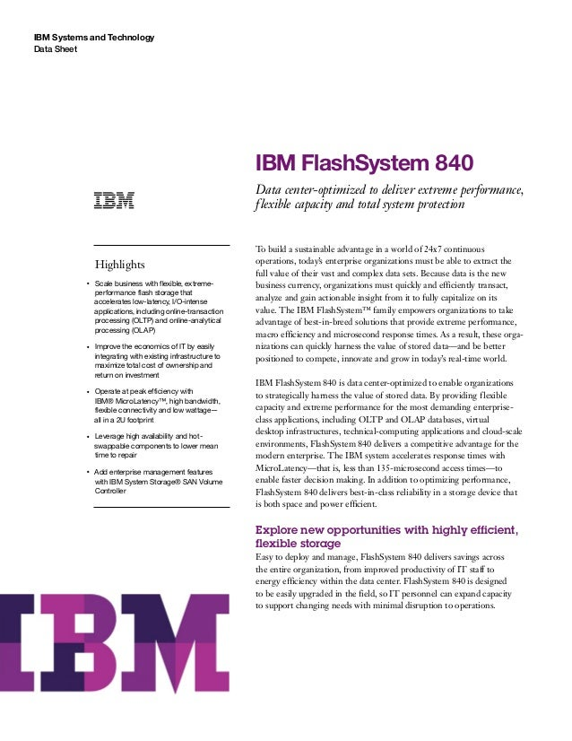 IBM FlashSystem 840