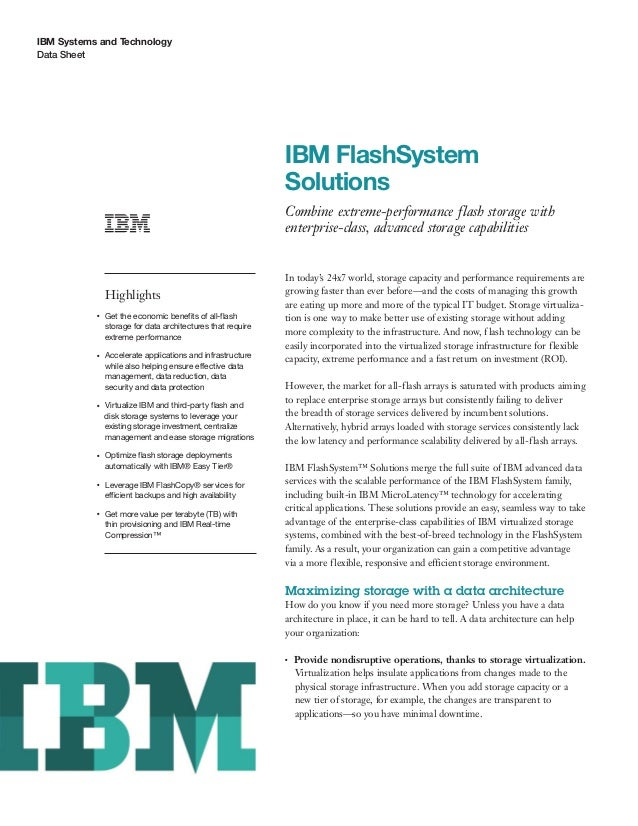 IBM FlashSystem Solutions