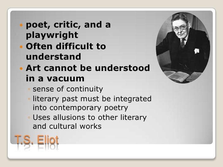 T s eliot essays on poetry