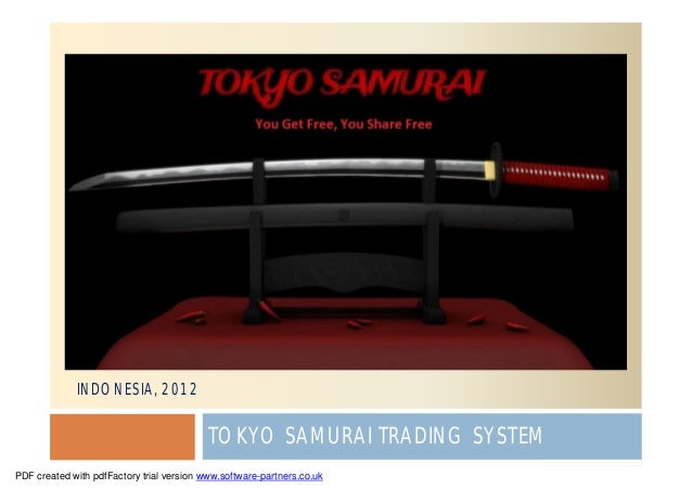 INDONESIA, 2012                                           TOKYO SAMURAI TRADING SYSTEMPDF created with pdfFactory trial ve...