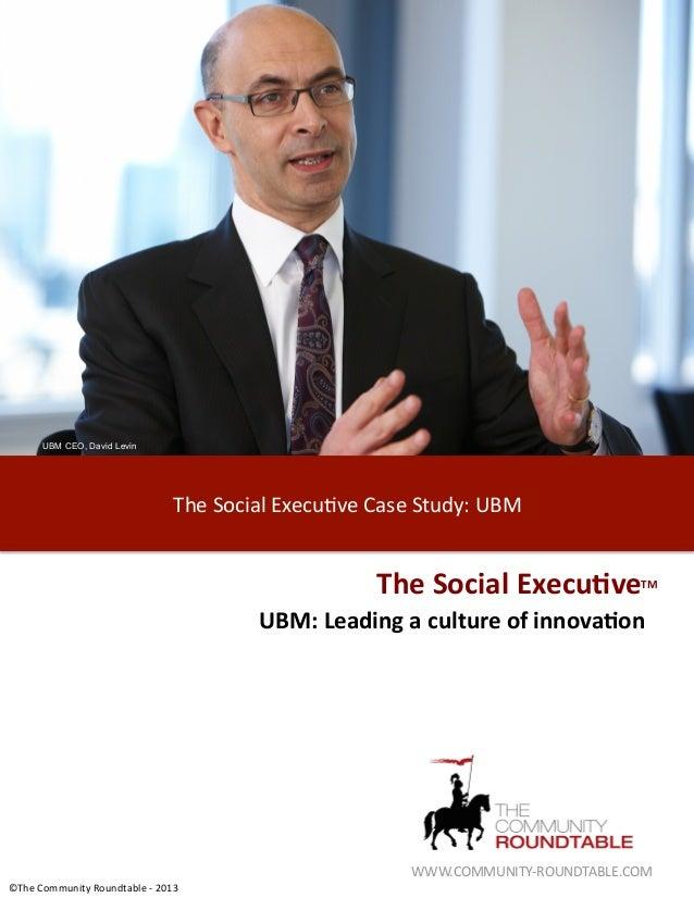 "UBM CEO, David Levin                               ""#$%89+02%:;$9)<=$%&0>$%8,)/-?%@AB%                                    ..."
