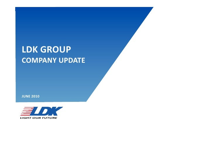 DISCLAIMER   LDK	   GROUP	    COMPANY	   UPDATE	       JUNE	   2010