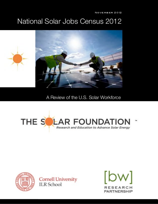 """November 2012  National Solar Jobs Census 2012s™""""          A Review of the U.S. Solar Workforce                           ..."""