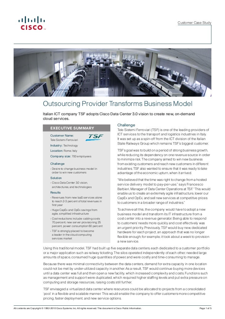Customer Case Study                            Outsourcing Provider Transforms Business Model                            I...
