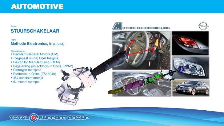 AUTOMOTIVEProject:STUURSCHAKELAARKlant:Methode Electronics, Inc. (USA)Bijzonderheden: Eindklant General Motors (GM) Toeg...