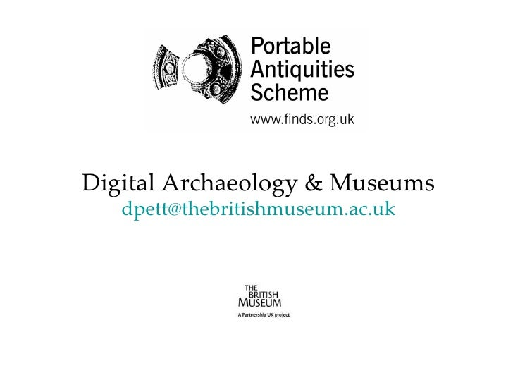 Digital archaeology and museums