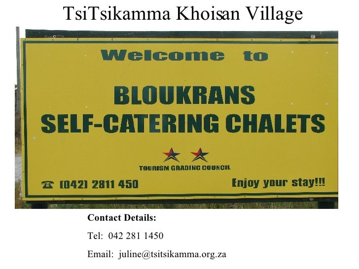 Tsi Tsikamma Self Catering Units