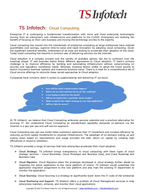 TS Infotech: Cloud Computing