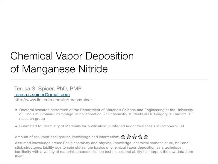 Chemical vapor deposition of manganese nitride