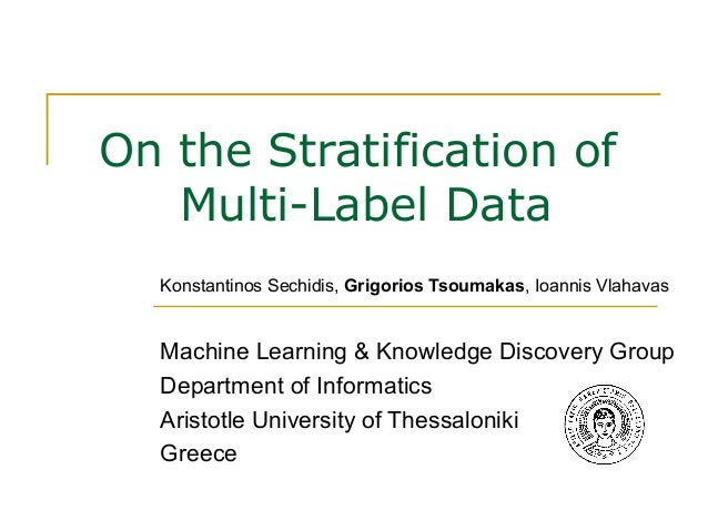 On the Stratification of Multi-Label Data