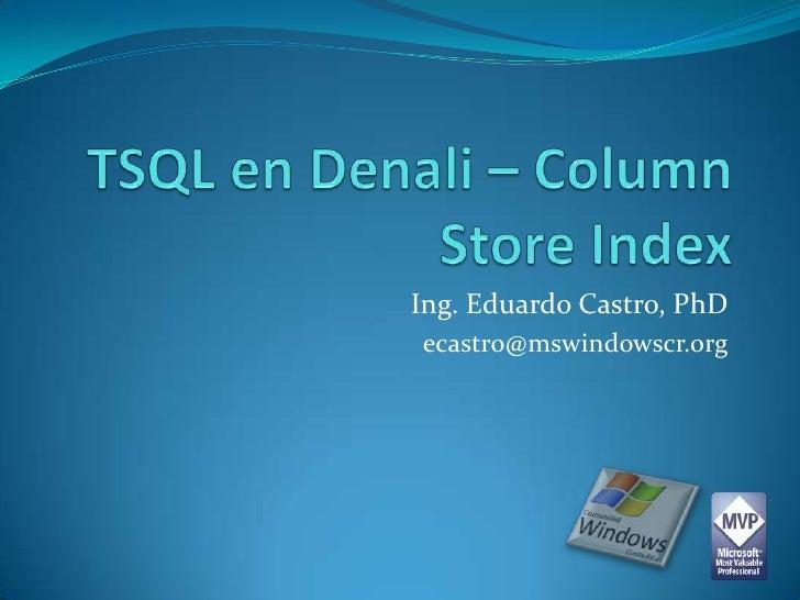 Ing. Eduardo Castro, PhDecastro@mswindowscr.org