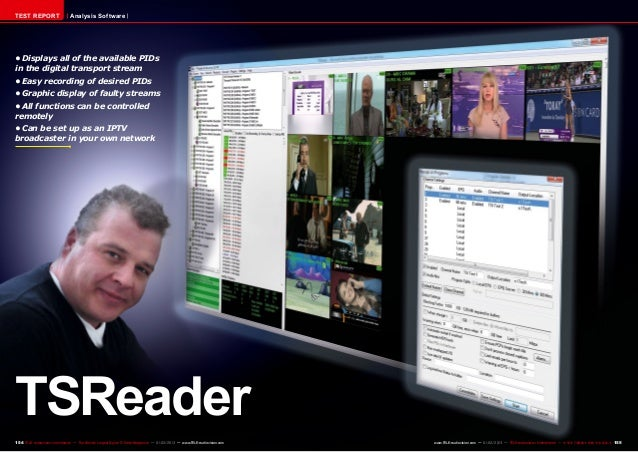 TEST REPORT                     Analysis Software•Displays all of the available PIDsin the digital transport stream•Easy...