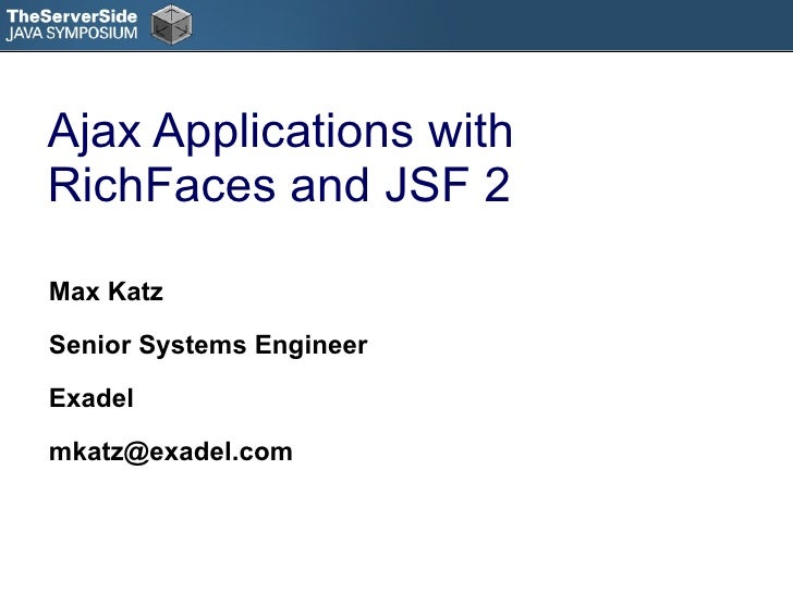 Ajax Applications with RichFaces and JSF 2