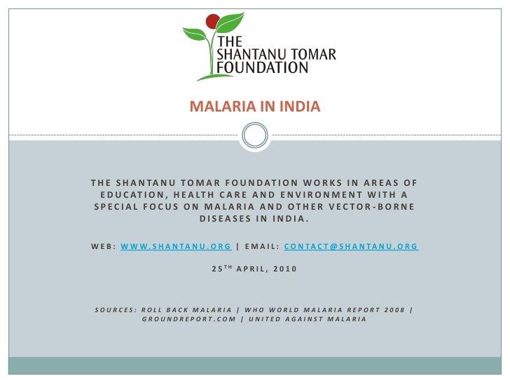 World Malaria Day - The Shantanu