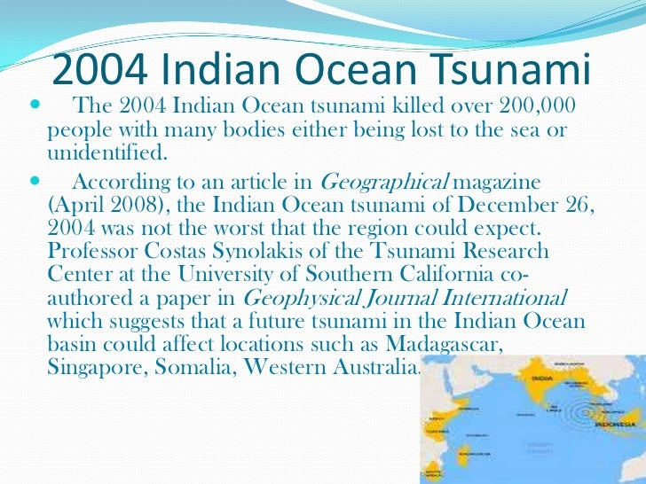 the tsunami disaster essay A natural disaster is a major adverse event resulting from natural processes of the earth examples include floods, hurricanes, tornadoes tsunami edit a tsunami (plural: tsunamis or tsunami from japanese: 津波, lit harbour.