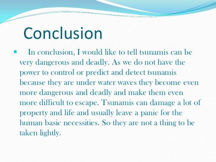 tsunami essay conclusion