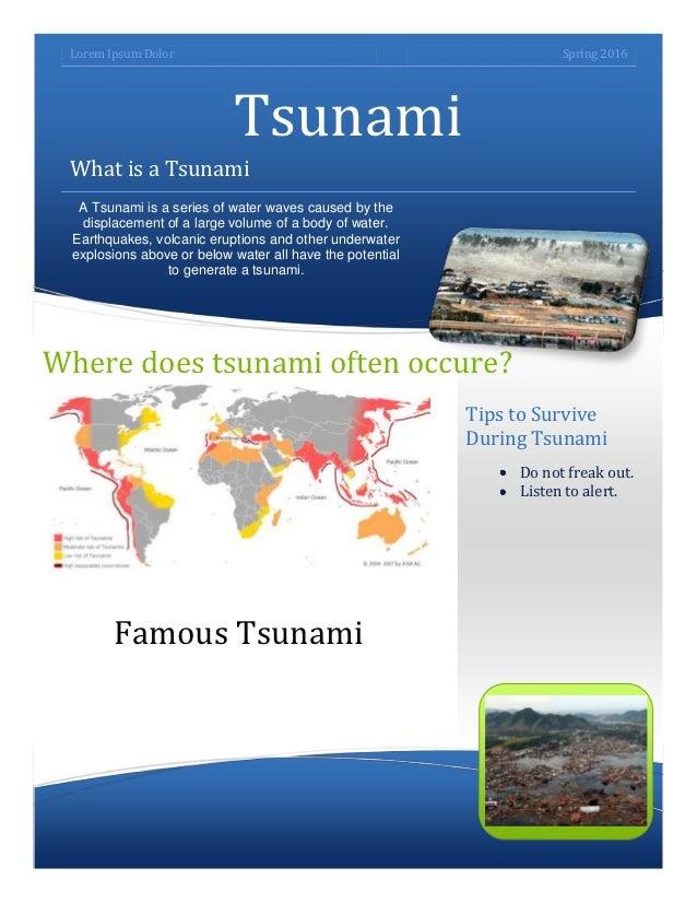 Lorem Ipsum Dolor                                                    Spring 2016                            Tsunami What i...