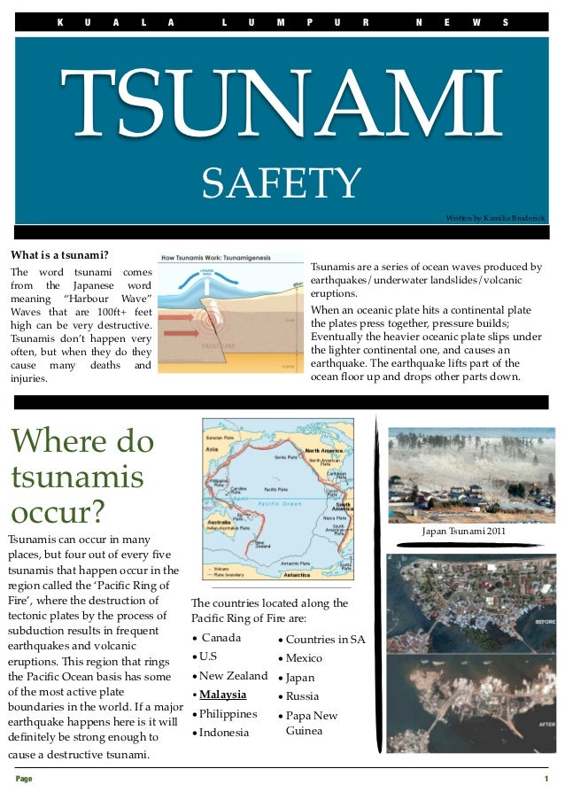 Tsunami Newsletter Warning