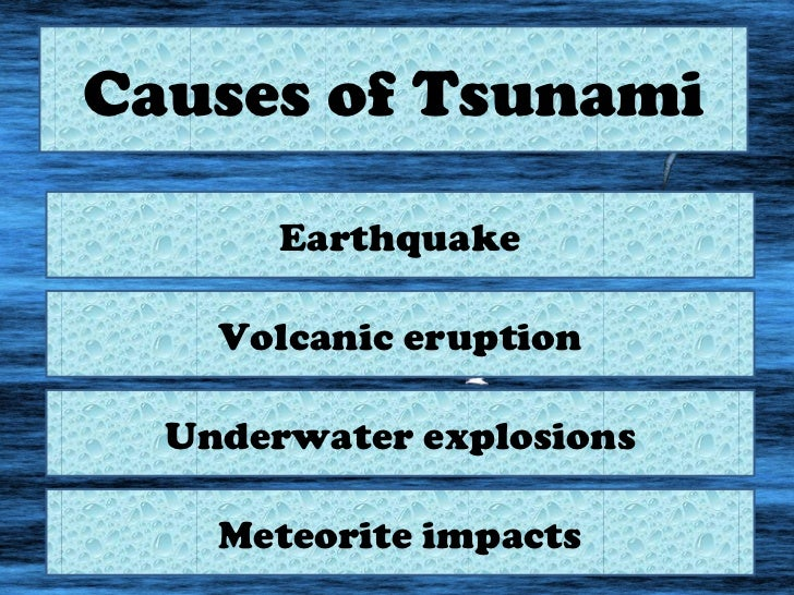 cause and effect essay about tsunamis