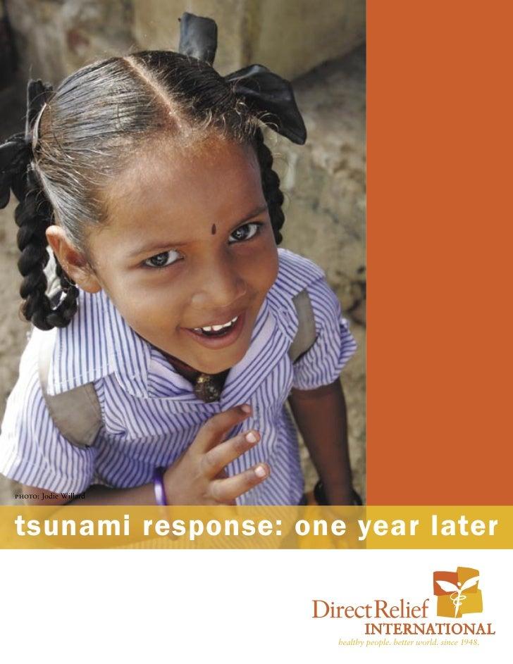 Tsunami response one year later