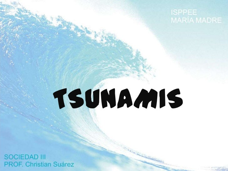 Tsunami  trabajo