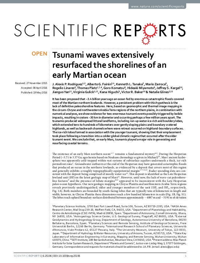Tsunami waves extensively resurfaced ?